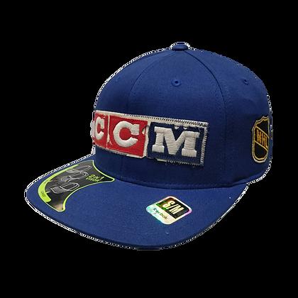 Men's Winnipeg Jets Blue Front CCM Logo Flex Hat