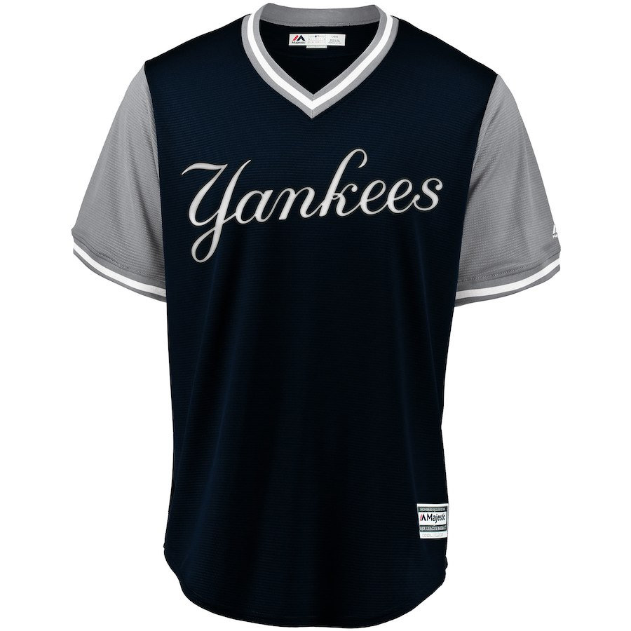 new styles 674b0 cda2a Men's New York Yankees Majestic Navy/Gray 2018 Weekend Pullover Jersey |  VancitysportsShop