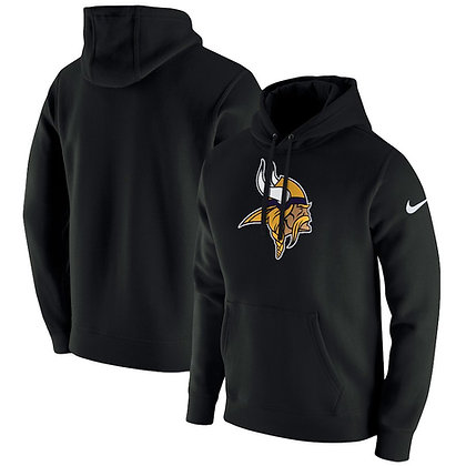 Men's Minnesota Vikings Nike Black Club Fleece Pullover Hoodie
