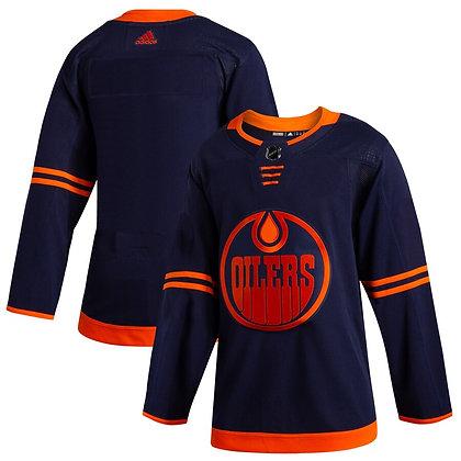 Men's Edmonton Oilers adidas Dark Navy Alternate Authentic Player Jersey