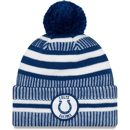 Men's Indianapolis Colts New Era Royal/White 2019 NFL Sideline Home Official Spo