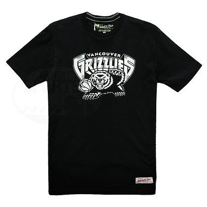 Men's Vancouver Grizzlies Black White Mitchell & Ness HWC Black T-shirt