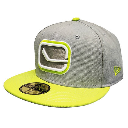 Men's Vancouver Canucks Stick Light Grey/ Neon Green New Era 59FIFTY Fitted Hat