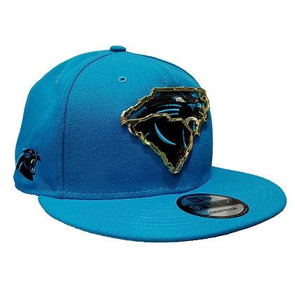 Men's Carolina Panthers New Era State Metal Framed 9FIFTY Blue Snapback