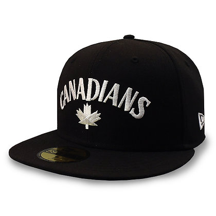 Men's Vancouver Canadians New Era CANADIANS on Black 59FIFTY Hat