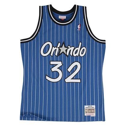 Men's Orlando Magic Shaquille O'Neal Mitchell&Ness Blue 94-95 HWC Swingman