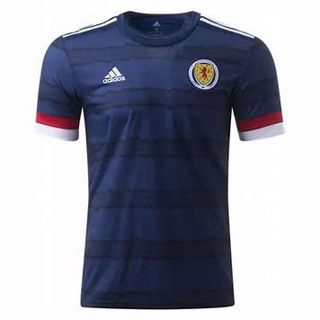 Men's Scotland Home adidas Euro 2020 Blank Jersey
