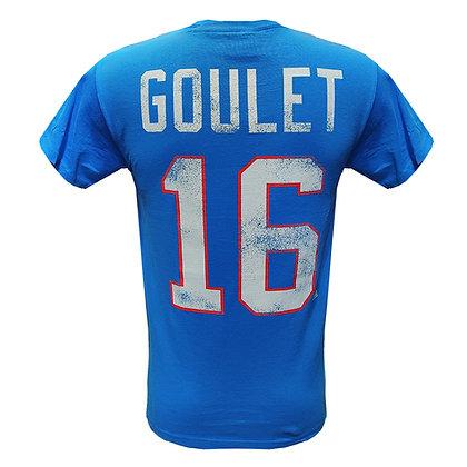 Men's Quebec Nordiques Michel Goulet #16 OTH Alumni Light Blue T-shirt