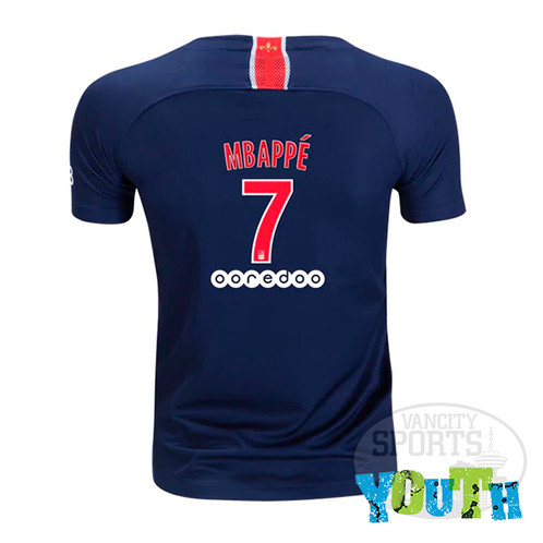 competitive price c5080 67130 Youth Paris Saint-Germain Mbappe Nike Home Jersey 18/19