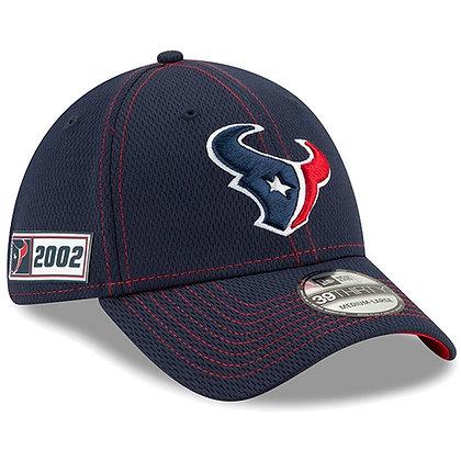 Men's Houston Texans New Era Navy 2019 Sideline Road 39THIRTY Flex Hat