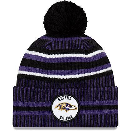 Men's Baltimore Ravens New Era Purple/Black 2019 NFL Sideline Home Official Spor