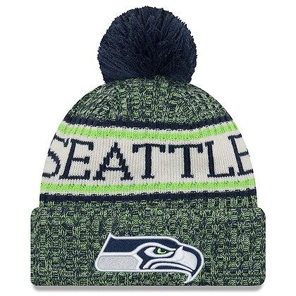 Men's Seattle Seahawks New Era 2018 Sideline Official Sport Knit hat