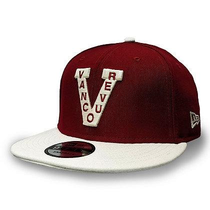 Men's Vancouver Millionaires 9FIFTY Maroon/White Snapback Hat