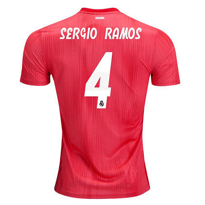 Men's Real Madrid Sergio Ramos adidas Third Jersey 18/19