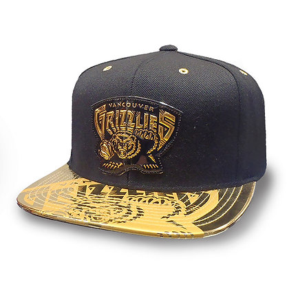 Vancouver Grizzlies Mitchell and Ness Gold Standard Snapback