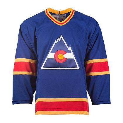 Men's Colorado Rockies CCM Vintage Blue Jersey