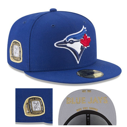 Men's Toronto Blue Jays New Era MLB Title Trim 59FIFTY Hat