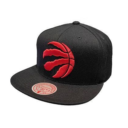 Men's Toronto Raptors snapback cap in black Mitchell & Ness NBA