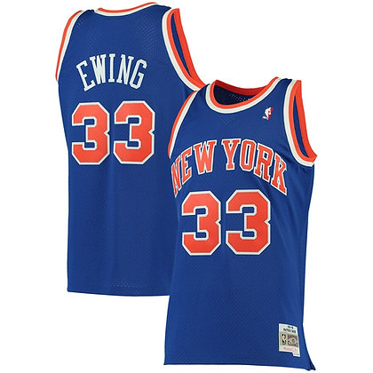 Men's New York Knicks Patrick Ewing Blue 91-92 HWC Swingman Jersey