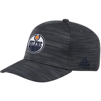 Men's Edmonton Oilers Official adidas Dark Navy Structured Flex Fit hat