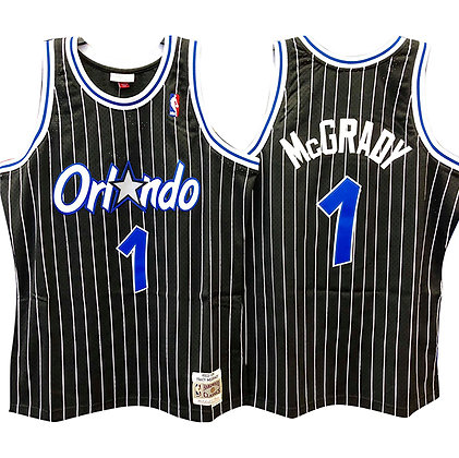 Men's Orlando Magic Tracy McGrady Mitchell & Ness Black 2003-04 HWC Swingman