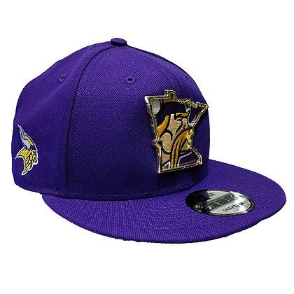 Men's Minnesota Vikings New Era State Metal Framed 9FIFTY Purple Snapba