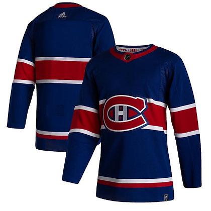 Men's Montreal Canadiens adidas Reverse Retro 20/21 Blue Authentic Jersey
