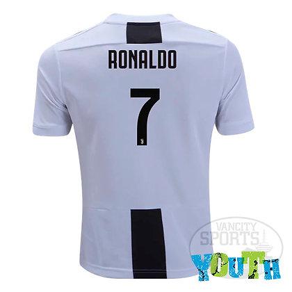 Youth Juventus Cristiano Ronaldo adidas Home Jersey 18/19
