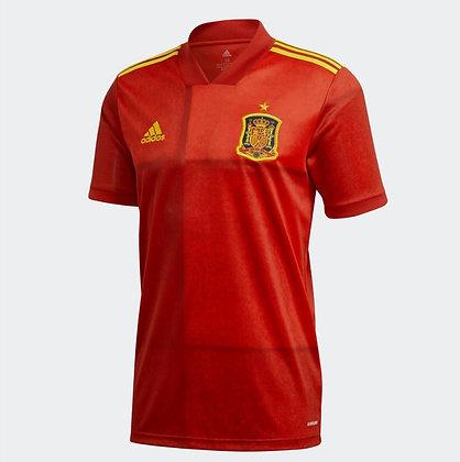 Men's Spain Home adidas Euro 2020 Blank Jersey