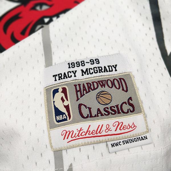 5df078e84b72 Men s Toronto Raptors Tracy McGrady Mitchell   Ness White 98-99 Swingman  Jersey
