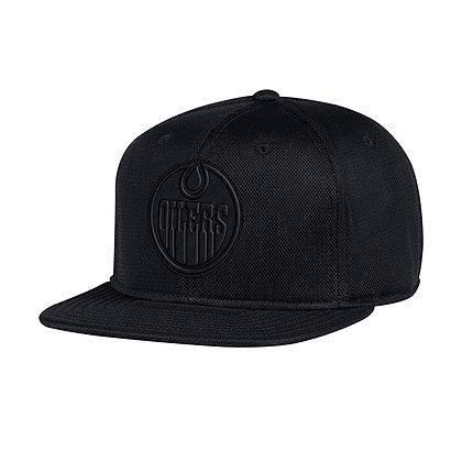 Men's Edmonton Oilers adidas Custom Black Snapback Hat