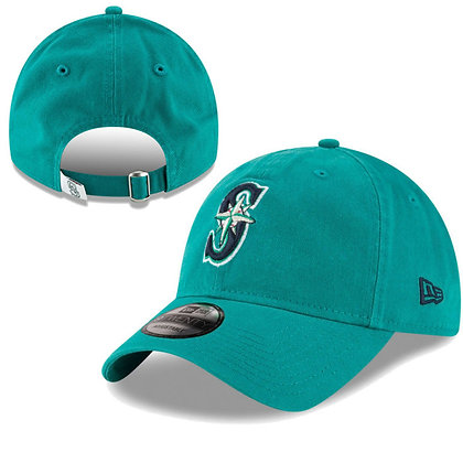 Men's Seattle Mariners New Era Teal Core Classic Twill 9TWENTY Adjustable Hat