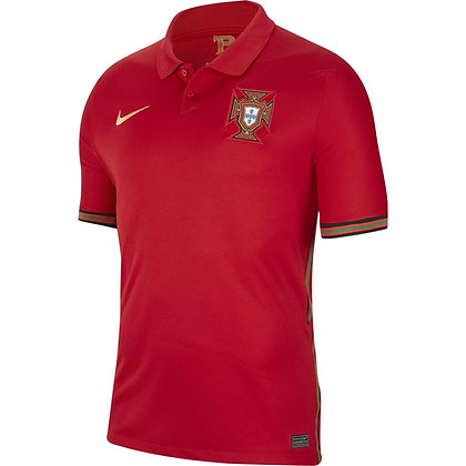 Men's Portugal Stadium Home Nike Euro 2020 Blank Jersey