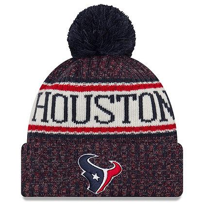 Men's Houston Texans New Era 2018 Sideline Official Sport Knit hat