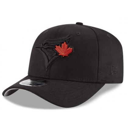 Men's Toronto Blue Jays New Era Red on Black Stretch 9FIFTY Snapback Adjustable