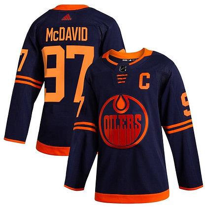 Men's Edmonton Oilers Connor McDavid adidas dark navy Authentic player jersey