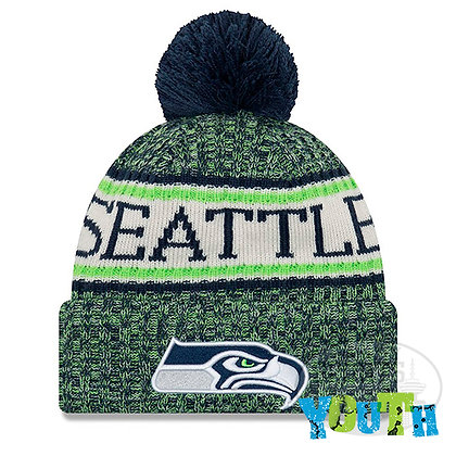 Youth Seattle Seahawks New Era 2018 NFL Sideline Cold Weather Knit Hat