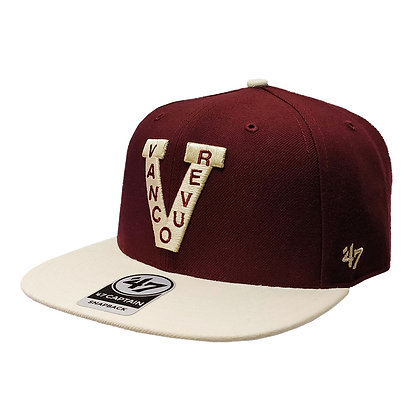 Vancouver Millionaires '47 Brand Captain Maroon/Ivory Snapback Hat