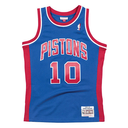 Men's Detroit Pistons Dennis Rodman Mitchell & Ness Blue 1988-89 HWC Swingman