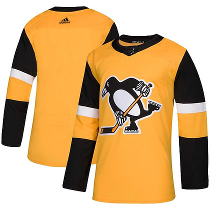 Men's Pittsburgh Penguins adidas NHL Authentic Gold Alternate Jersey