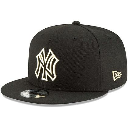 Men's New York Yankees New Era Metal Framed 9FIFTY Black Snapback