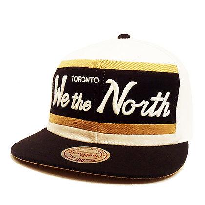 Men's Toronto Raptors Mitchell and Ness We the North White/ Black Visor Snapback