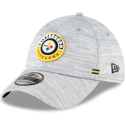 Pittsburgh Steelers New Era 2020 Official Road Sideline 39THIRTY Stretch Fit