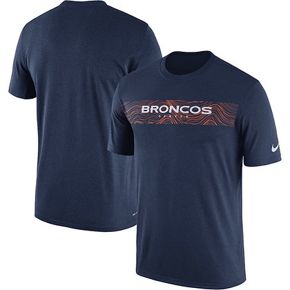 Men's Denver Broncos Nike Navy Sideline Seismic Performance T-Shirt