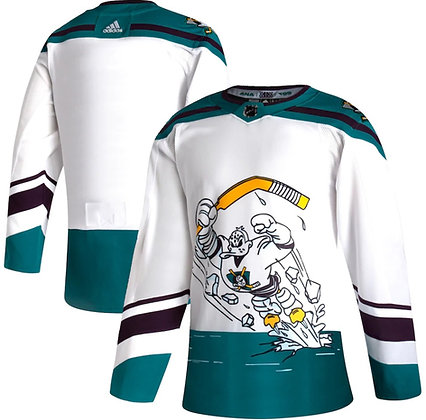 Men's Anaheim Ducks adidas Reverse Retro 20/21 White Authentic Jersey
