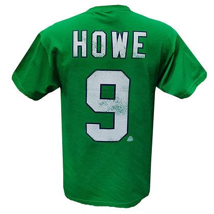 Men's Hartford Whalers Gordie Howe #9 OTH Alumni Green T-shirt
