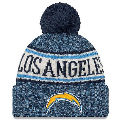 Men's LA Chargers New Era 2018 Sideline Official Sport Knit hat