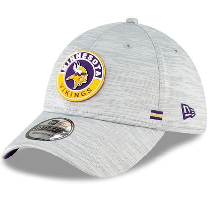 Minnesota Vikings New Era 2020 Official Road Sideline 39THIRTY Stretch Fit