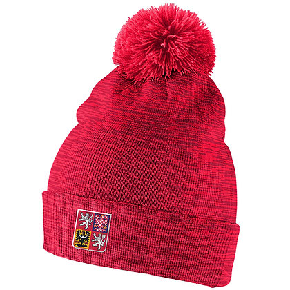 Team Czech IIHF 2019 World Junior Champ. Nike Cuffed Pom Knit Hat / Beanie