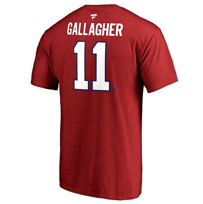 Men's Montreal Canadiens Brendan Gallagher Fanatics Red Name and Number